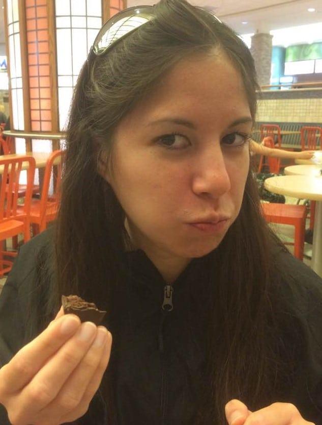 Christine Eating Chocolate